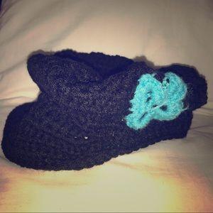 Homemade crochet hats
